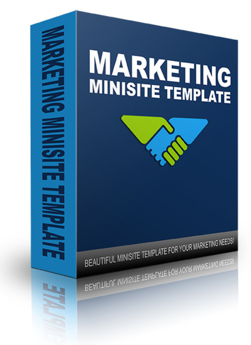 Product picture New Marketing Minisite Template 2014